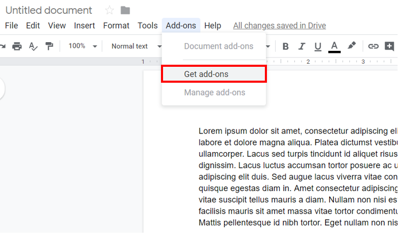 Add-ons for Google Docs