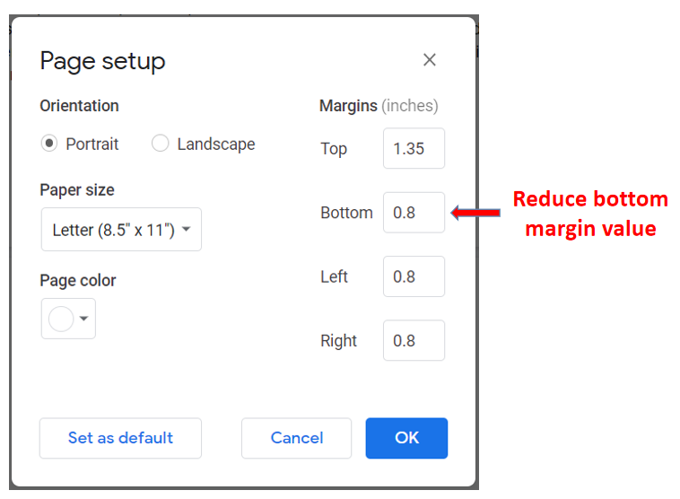 reduce bottom margin
