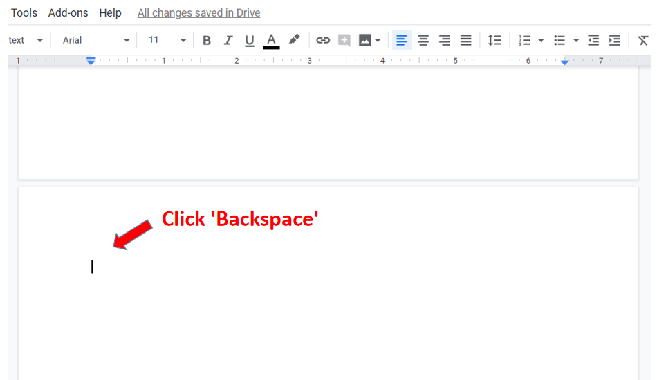 how to delete blank page