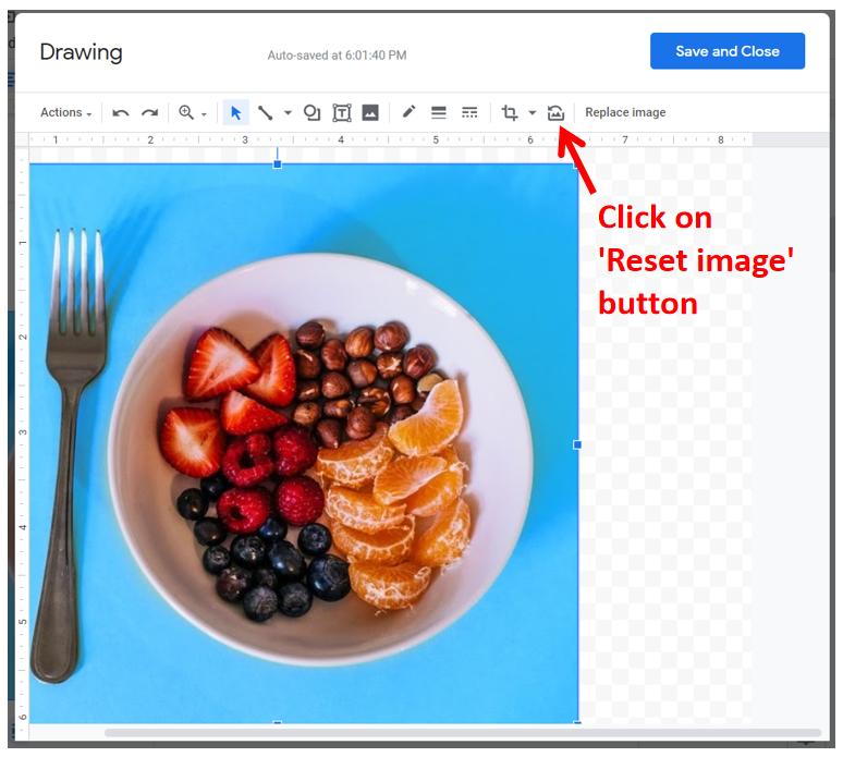 Rest Image in Google Docs