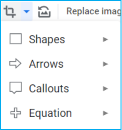 Shapes in Google Docs